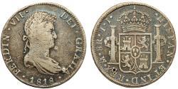 World Coins - MEXICO: Fernando VII (1808-1821). AR 8 Reales 1818 Mo-JJ. Fine+