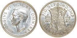 World Coins - Great Britain. king George VI. AR Half Crown 1942. Choice AU. PL strike