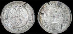 World Coins - H.R.E. Hungary. Leopold I (1657-1705) Silver 3 Krajczar 1698 C-H. XF
