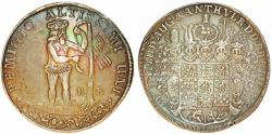 World Coins - Germany: Brunswick-Wolfenbuttel. Ernst August (1679-1698). AR Taler 1694 R-B. Beautifly toned XF.