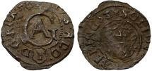 World Coins - Poland. Sweden occupation of City of Elbing. king Gustav II Adolf. Scarce AR 1/24 Taler 1633. Fine+