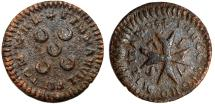 World Coins - Malta. Order of Knights of St. John. Emmanuel Pinto (1741-1773) 1 Grano 1752. About VF