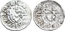 World Coins - Teutonic Knight's Order. G-Master Paul von Russdorf (1422-1441). Silver Shilling. aVF