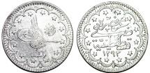 Turkey. Ottoman Empire. Muhamnad V. AG 5 Kurush AD 1894 (AH 1293//33). AU