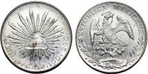World Coins - Mexico. Republic. AR Peso 1896 Mo AB. UNC
