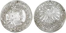 "World Coins - Poland. For Prussia. King Sigismund I ""Old"" (1506-1548). AR Groschen 1532. Nice VF."
