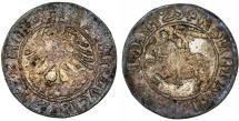 World Coins - Lithuania. Sigismund I Jagiello (1506-1546). Silver Half Gross 1520. aVF