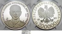 "World Coins - Poland. Nickel Pattern ""PROBA"" 200,000 zl 1990MW. Gen. Komorowski. NGC PF67 UC"