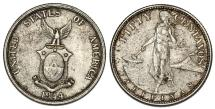 World Coins - Philipines. AR 50 Centavos 1944. AU+