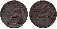 World Coins - Great Britain Administration: Greece. IONIAN ISLANDS Scarce AE 2 Lepta 1819. Choice VF