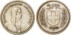 World Coins - Switzerland. AR 5 Frank 1932. VF+