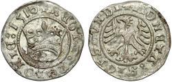 """World Coins - Poland. King Sigismund I """"Old"""" (1506-1548). Silver Half Groschen 1510. Choice XF"""