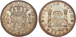 World Coins - MEXICO. Colonial. Carlos III of Spain (1759-1788). Beautiful AR 8 Reales 1771 Mo-FM. Choice AU