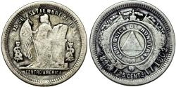 World Coins - Honduras. Republic. AR 25 Centavos 1902/893. Fine+