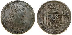 World Coins - MEXICO: Fernando VII (1808-1821). AR 8 Reales 1808 Mo-TH. VF