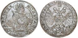 World Coins - Switzerland. Schweiz-Chur. Silver 10 Kreuzer 1632. Toned Choice XF+