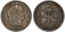 World Coins - Republic of Haiti , SINCE 1863. AE 2 Cents AN78 (1881). XF