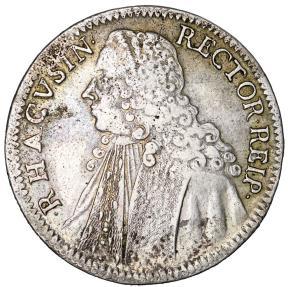 World Coins - Kroatia. Republic of Ragusa (Dubrownik) AR RektoratsTaler 1758. VF