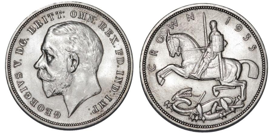 World Coins - Great Britain. George V. AR 1 Crown 1935. UNC/ AU