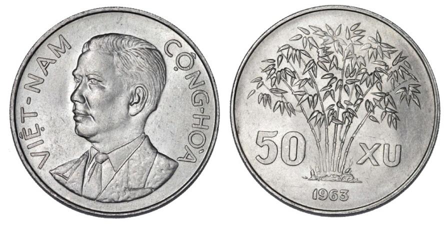 World Coins - North Vietnam. AL 50 XU 1963. UNC