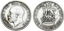 World Coins - Great Britain. George V. AR Shilling 1934. AVF