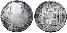 World Coins - Mexico. Charles IV of Spain (1788-1808). Silver 8 Reales 1799-MoFM. Nice Choice VF.