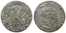 World Coins - Germany. Silesian State of Münsterberg-Öls. Jointly Heinrich Wenzel  and Karl Friedr (1617-1639). AR Kipper 24 Kreuzer 1622. Toned VF
