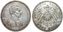 World Coins - Germany Empire. Prussia. Wilhelm II (1888-1918). Silver 5 Mark 1913 A. Toned Choice XF