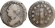 "World Coins - France. King Louis XVI The Last (1774-1792). AE 12 Deniers 1793 T. ""Constitutional issue"", Fine"