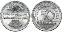 World Coins - Germany. Waimar Republic. 50 Reichspfennig 1920 A. BU