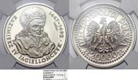"World Coins - Poland. Nickel Pattern ""PROBA"" 20,000 zl 1993MW. ""Casmir IV"". NGC PF69 Cameo!"