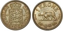 Greenland. AL-AE 1 Krone 1926. Choice XF/AU