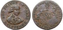 World Coins - Great Britain. Middlesex-National Series. Cu 1/2 Penny Token 1790's. VF