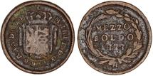 World Coins - Italy. Milan. Austrian occupaiton period. Cu Mezzo Soldo 1777. Fine/VF