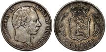 World Coins - Denmark. Christian IX (1863-1907). Silver 2 Kroners 1876. Choice VF