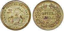 World Coins - Germany. City of Nuremberg. Game Token (Spiel-Marke) 1692. Nice XF, RARE