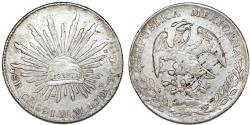 World Coins - Mexico. Republic. AR 8 Reales 1891 Ca-MM. Choice XF/AU
