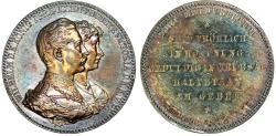 """Ancient Coins - Germany, Prussia, Wilhelm II (1888-1918). Large silver Medal """"Wedding Anniversary"""" Toned UNC, ETUI!"""