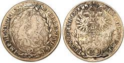 World Coins - H.R.E. Transylvania. Empress M. Theresa (1740-1780). AR 20 Kreuzer 1778 HS. Choice VF