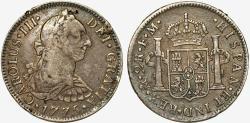 World Coins - Mexico as Spanish Colony. Charles III. AR 2 Reales 1788 Mo FM. Nice Choice VF