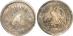 World Coins - Mexico. Republic. AR Peso 1899 Zs Fz. VF+