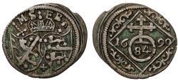 World Coins - Germany. Bishopric State: Bamberg. Sebastian Schenk von Stauffenberg 1683-1693. AR 1/84 Taler 1690. VF+