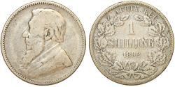 World Coins - South Africa. ZAR. Silver Shilling 1892. Fine