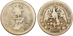 World Coins - Republic of Mexico. RARE 50 Centavos 1887 MoM. VG