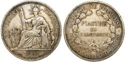 World Coins - Indo- China. AR 1 Piastre De Commerce 1907. Choice VF