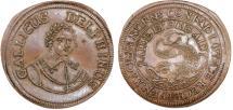 World Coins - Germany. Nurnberg: Copper Rechenpfennig 1668-1688, Stadt Dauphin Ludwig V. Gallicus Delphinus. XF