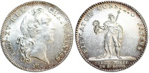 World Coins - FRANCE. Jeton - Order of St. Louis, ND (ca. 1740-69). Louis XV (1715-774). ALMOST UNCIRCULATED, NICE!