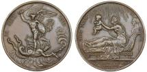 World Coins - FRANCE. Louis XVIII (1814-1824). AE Medal: Commemorating the birth of Henri V on 29 September 1820. Choice XF