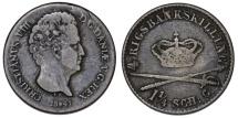 World Coins - Denmark. Christian VIII. AR 4 Rigsbankskilling 1841. VF