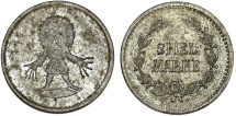 World Coins - Germany. Early Imperial Period. Game Token (Spiel-Marke) ca.1890. Nice XF, VERY RARE type